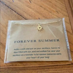 Forever Summer Sun gold necklace